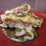 Cannelloni con besciamella pesto e prosciutto cotto Naturì