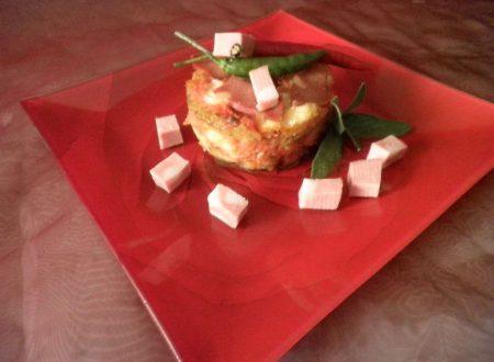 Parmigiana di finocchi con Mortadella e caciocavallo