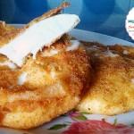Arrosticini di formaggio panati e fritti