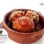Carciofi ripieni con agnello e parmigiano al pomodoro
