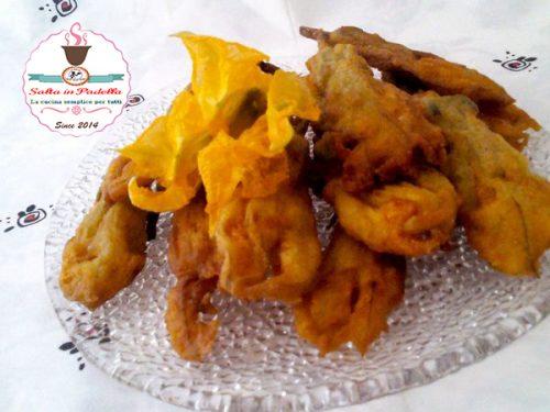 Croccantissimi fiori di zucca con pastella all'acqua Frizzante