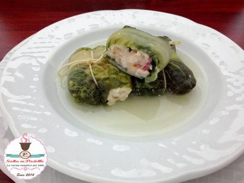 Zuppa di lattughe ripiene di Galletto e provolone