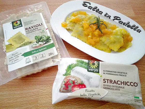 Ravioli Vegan strachicco e spinaci con zucca e strachicco