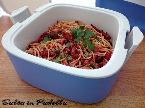 Spaghetti al ragu di totano con pomodoro