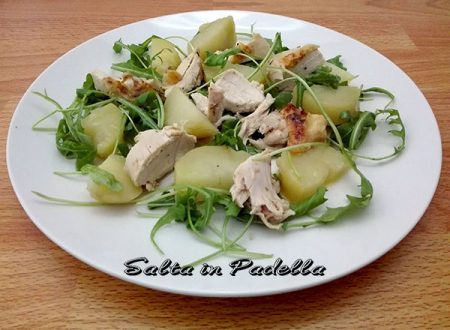 Insalata di Galletto patate rucola e citronette