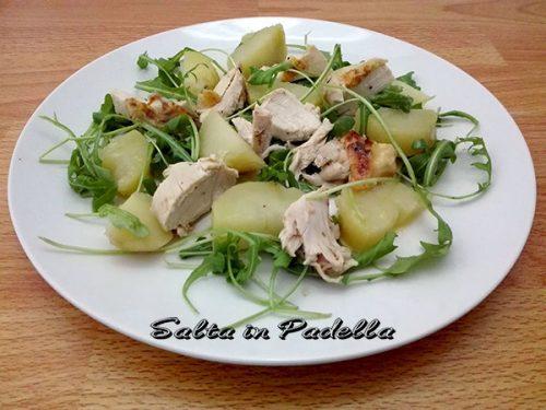 Insalata di Galletto patate rucola e citronette