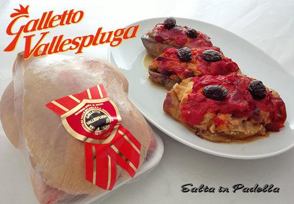 Melanzane ripiene di Galletto con pomodoro e olive