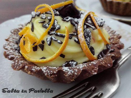 Tortina cheesecake con crema pasticcera agli agrumi