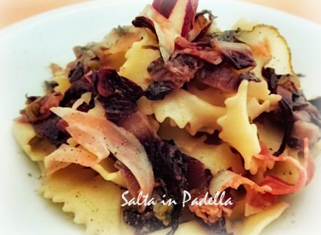 Reginette con pancetta radicchio Tardivo e gorgonzola