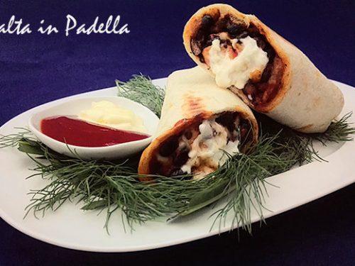 Burrito con fagioli neri e pancetta