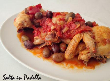 Pollo al pomodoro e olive Taggiasche