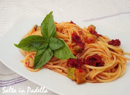 Spaghetti piccanti con Zucchine e Nduja di Spilinga