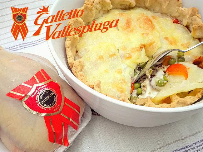Quiche salata con verdure mozzarella e Galletto