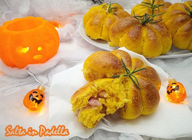 Finte zucche di Halloween con certosa e pancetta