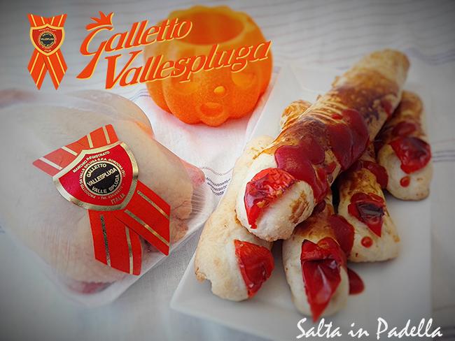 Dita di strega salate con Galletto e provolone