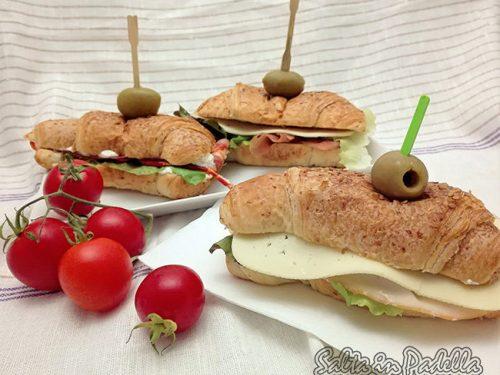 Cornetti salati farciti per feste e buffet