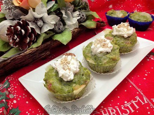 Muffin con salsiccia provolone e cime di rapa