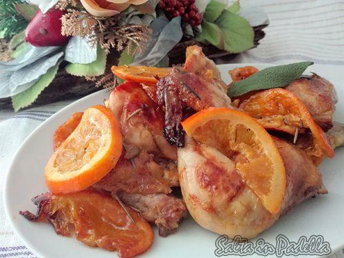 Galletto al forno profumato con arance e mandarini