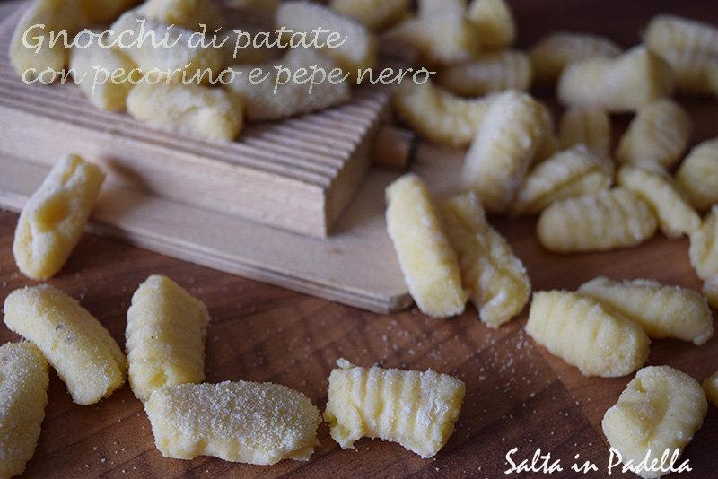 Gnocchi di patate con pecorino e pepe nero