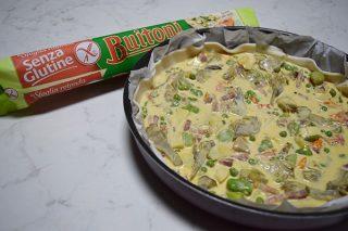 Torta salata con verdure e pancetta Senza Glutine