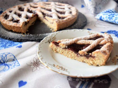 Crostata semi integrale con marmellata di fragole senza lattosio