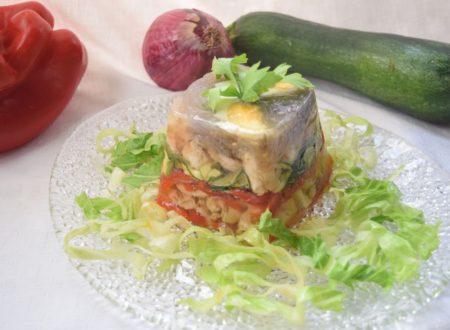 Aspic di Galletto e verdure alla mediterranea
