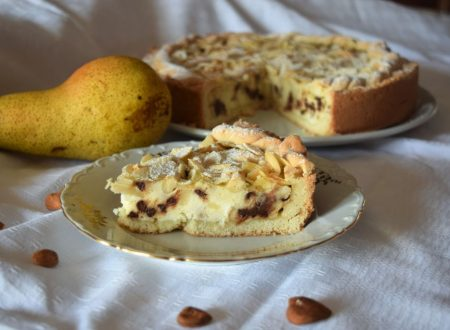 Crostata ricotta pere e gocce di cioccolato
