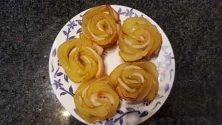Rose di mela in pasta sfoglia