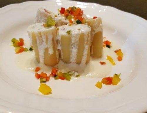 Paccheri alle verdure e crema di formaggio