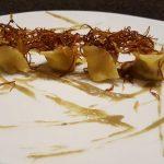 Tortelli tofu e olive taggiasche ai carciofi alle 2 consistenze