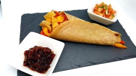 Tortillas integrale con peperoni e seitan o peperoni e pollo
