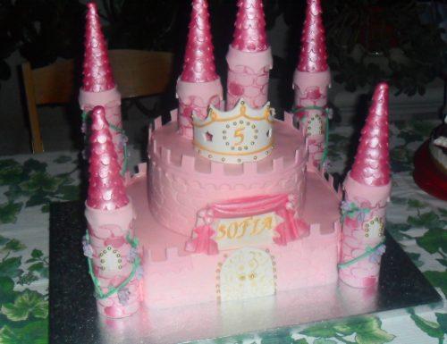 Torta castello per la principessa Sofia