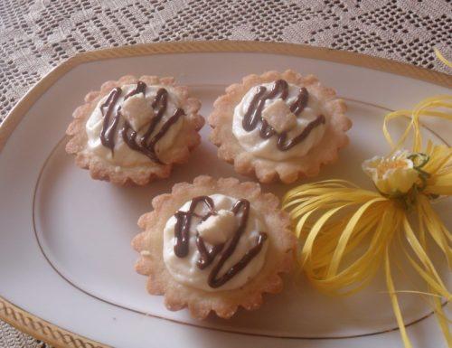 Crostatine alla crema di cocco