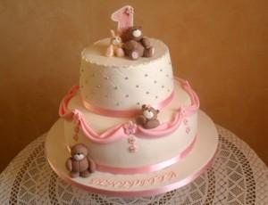 torta primo compleanno con orsetti