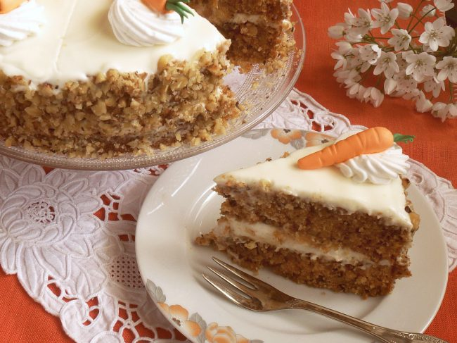 Torta di carote o Carrot Cake