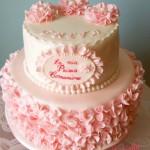RUFFLE CAKE PER UNA PRIMA COMUNIONE