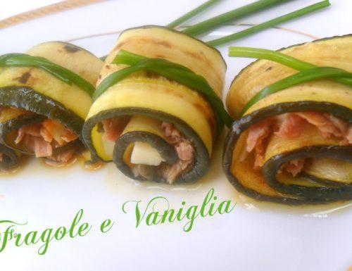 Involtini zucchine grigliate