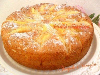 Torta di mele con crema al limone