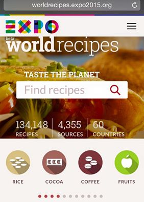 Le mie ricette su Expo World Recipes