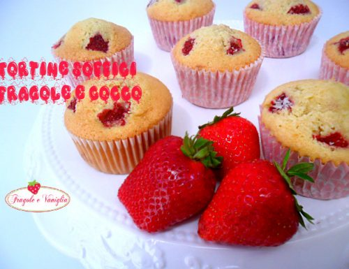 Tortine Soffici Fragole e Cocco