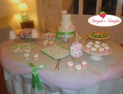 Sweet Table Verde e Rosa