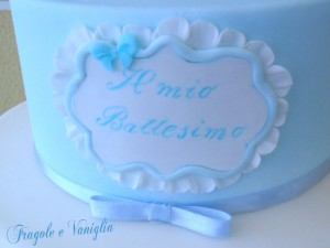 Torta Battesimo con Mongolfiera