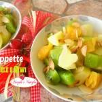 Coppette di mele e kiwi