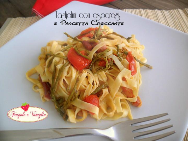 Tagliolini con Asparagi Selvatici e Pancetta Croccante