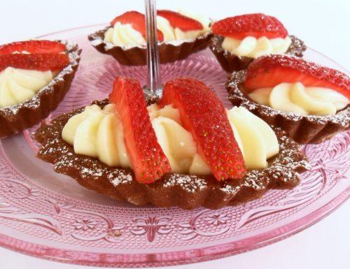 Tartellette al Cioccolato con Crema al Mascarpone