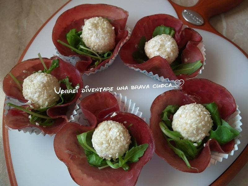 roselline di bresaola dal cuore morbido