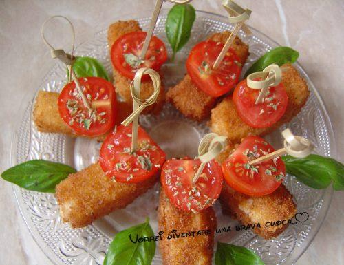 Bastoncini di provola fritti