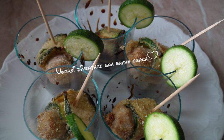 Involtini di zucchine e salsiccia finger