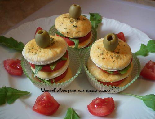 Sandwich vegetariano di pizzette