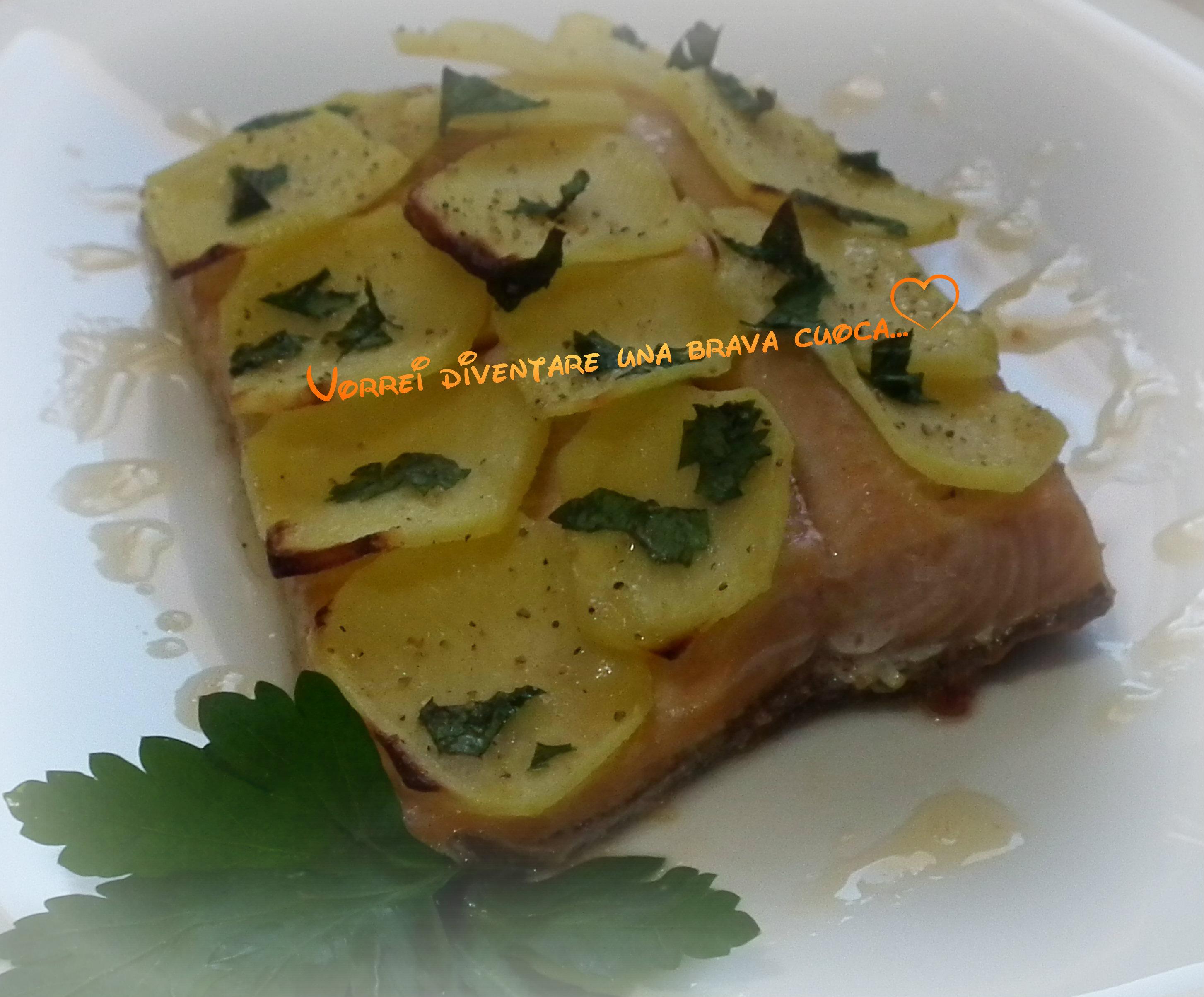 filetto di trota salmonata con patate